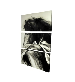 Canvas 40 x 60 - 3D - Classical horse