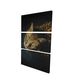 Canvas 24 x 36 - 3D - Bengal cat
