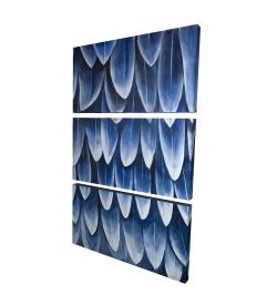 Canvas 24 x 36 - 3D - Plumage blue