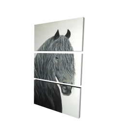 Canvas 24 x 36 - 3D - Wild heart horse