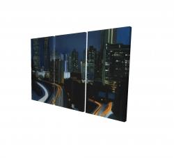 Canvas 24 x 36 - 3D - Atlanta at night