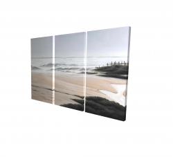 Canvas 24 x 36 - 3D - Cloudy at the beach