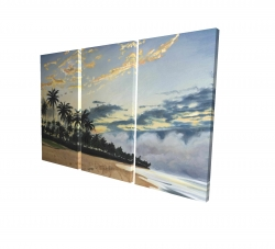 Toile 24 x 36 - 3D - Moments d'été tropical