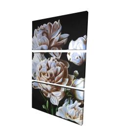 Canvas 24 x 36 - 3D - Peonies