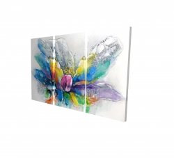 Canvas 40 x 60 - 3D - Abstract flower with newspaper