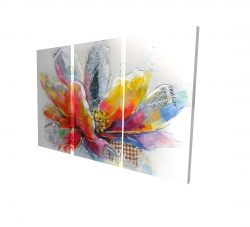 Canvas 24 x 36 - 3D - Abstract flower with texture