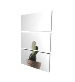 Canvas 24 x 36 - 3D - Potted cactus