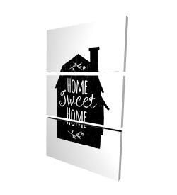 Canvas 24 x 36 - 3D - Home sweet home