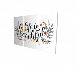 Canvas 24 x 36 - 3D - Life is beautiful
