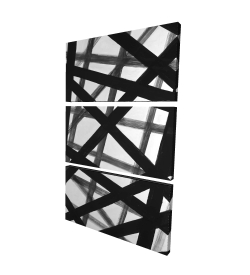Canvas 24 x 36 - 3D - Abstract bold lines