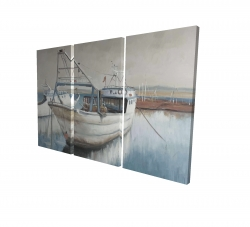Canvas 24 x 36 - 3D - Fishing boat desatured