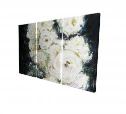 Canvas 24 x 36 - 3D - Garden roses