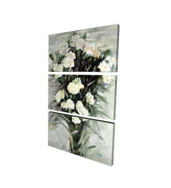 Canvas 24 x 36 - 3D - Lisianthus white bouquet