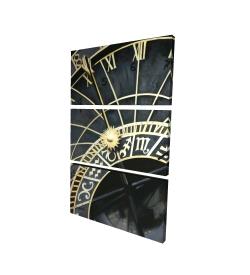 Canvas 24 x 36 - 3D - Astrologic clock