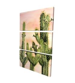 Toile 24 x 36 - 3D - Cactus weberocereus