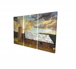Canvas 24 x 36 - 3D - Hay barn