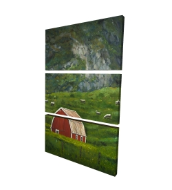 Canvas 40 x 60 - 3D - Life in the countryside