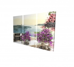 Canvas 24 x 36 - 3D - Mediterranean sea view