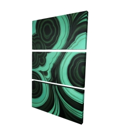 Canvas 24 x 36 - 3D - Malachite stone