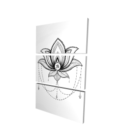 Canvas 24 x 36 - 3D - Ethnic lotus ornament