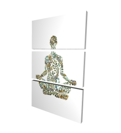 Canvas 24 x 36 - 3D - Zen attitude