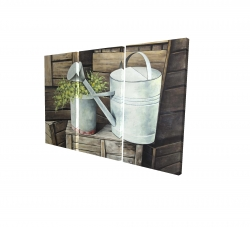 Canvas 40 x 60 - 3D - Vintage watering can