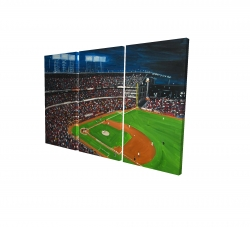 Canvas 24 x 36 - 3D - Baseball game