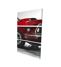 Canvas 24 x 36 - 3D - Classic red car