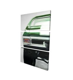 Canvas 24 x 36 - 3D - Classic dark green car