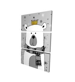Canvas 24 x 36 - 3D - Beautiful bear