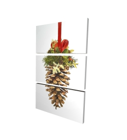 Canvas 24 x 36 - 3D - Christmas pine cone