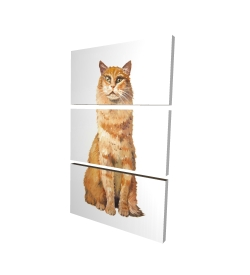 Canvas 24 x 36 - 3D - Ginger cat
