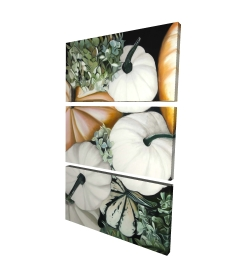 Canvas 24 x 36 - 3D - Fall pumpkins