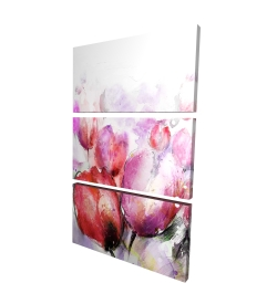 Canvas 24 x 36 - 3D - Abstract blurry tulips
