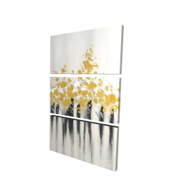 Canvas 24 x 36 - 3D - Abstract gold flowers
