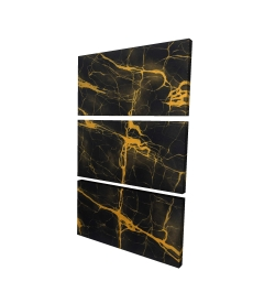Canvas 24 x 36 - 3D - Black and gold marble texture