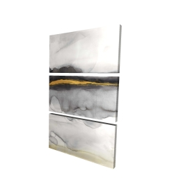 Canvas 24 x 36 - 3D - Gold stripe abstract