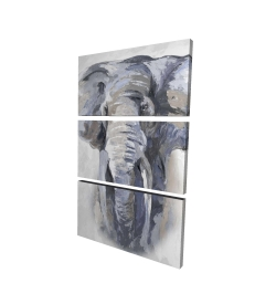 Canvas 24 x 36 - 3D - Pastel blue elephant