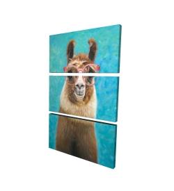 Canvas 24 x 36 - 3D - Lovable llama