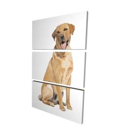 Canvas 24 x 36 - 3D - Labrador retriever