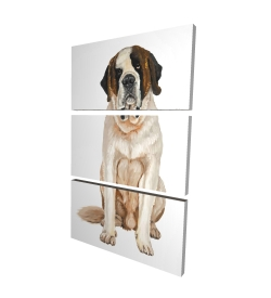 Canvas 24 x 36 - 3D - Saint bernard