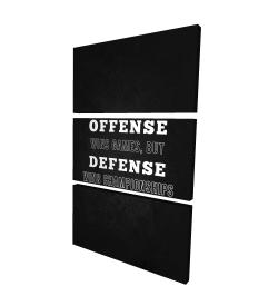 Canvas 24 x 36 - 3D - Offense wins games...