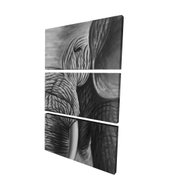Canvas 24 x 36 - 3D - Elephant