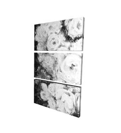 Canvas 40 x 60 - 3D - Monochrome rose garden