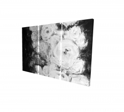 Canvas 24 x 36 - 3D - Monochrome rose garden
