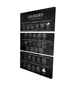 Canvas 24 x 36 - 3D - Laundry