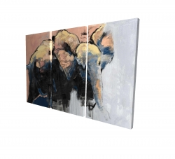 Canvas 24 x 36 - 3D - Abstract elephant