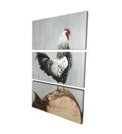 Canvas 24 x 36 - 3D - Wyandotte rooster