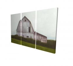 Canvas 24 x 36 - 3D - Rustic barn