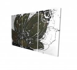 Canvas 24 x 36 - 3D - Abstract flower with paint splash